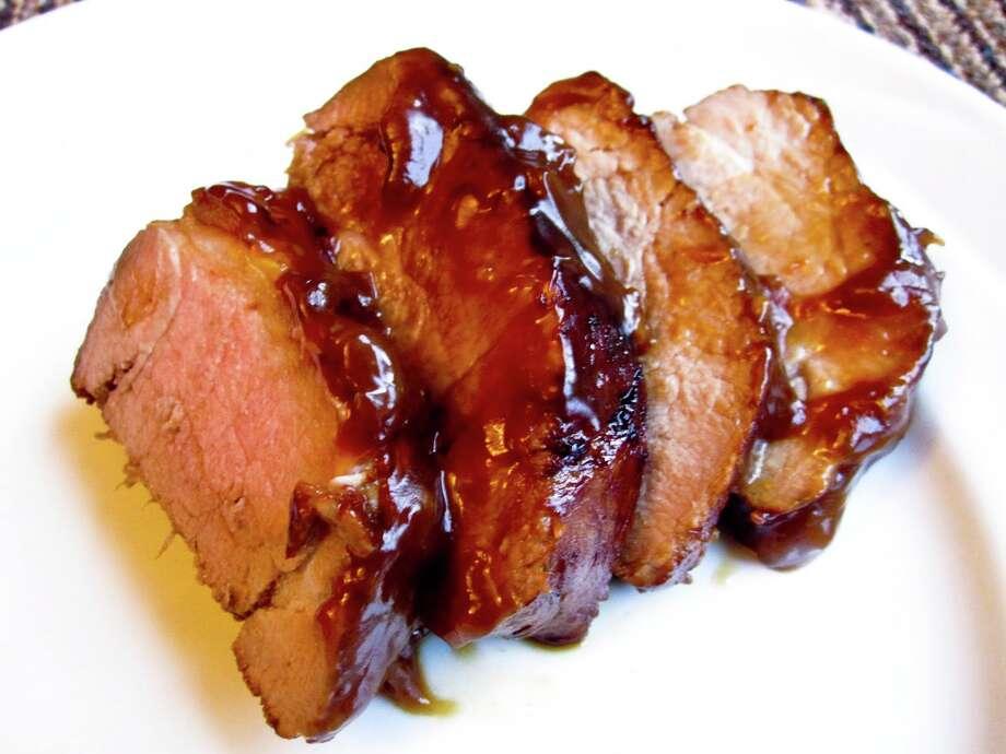 glazed pork tenderloin/foodwhine.com