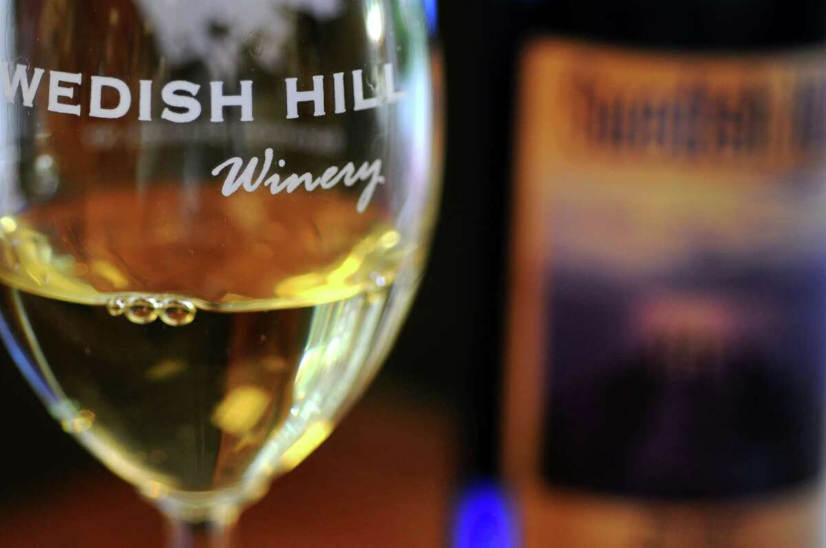 Blue Waters Riesling, at the Swedish Hill Winery, on Broadway, on Thursday July 5, 2012 in Saratoga Springs, NY. (Philip Kamrass / Times Union)