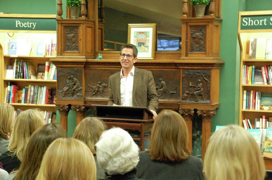 "Author Jess Walter, whose most recent books include the novel ""Beautiful Ruins"" and a collection of short stories called ""We Live in Water,"" appeared at Barrett Bookstore April 4, where his humor and anecdotes had the packed crowd laughing out loud. Photo by Jarret Liotta Photo: Contributed Photo"