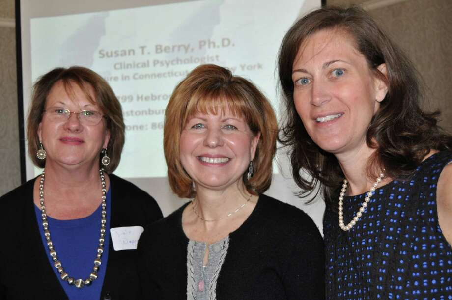 The DAEG, Darien Advocates for the Education of the Gifted, hosted its annual luncheon at Wee Burn Country Club on April 5. Above, IDEA district coordinator Dale Wagner with Dr. Susan Berry and DAEG co-president Karin Sharp. Photo: Contributed Photo