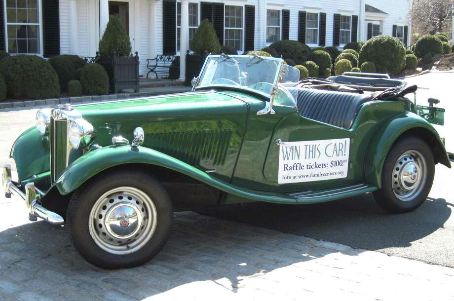 "As part of its ""Gatsby on the Sound"" benefit, Family Centers will raffle off this classic 1951 MG-TD convertible. Photo: Contributed Photo / Greenwich Citizen"