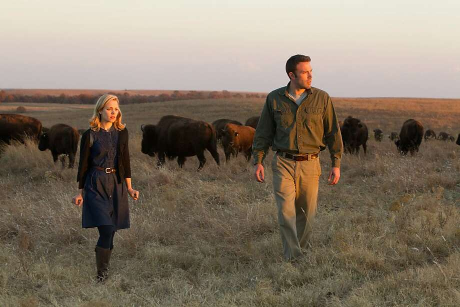 "Rachel McAdams and Ben Affleck end up standing around and looking lost a lot in ""To the Wonder."" Photo: Mary Cybulski, Magnolia Pictures"