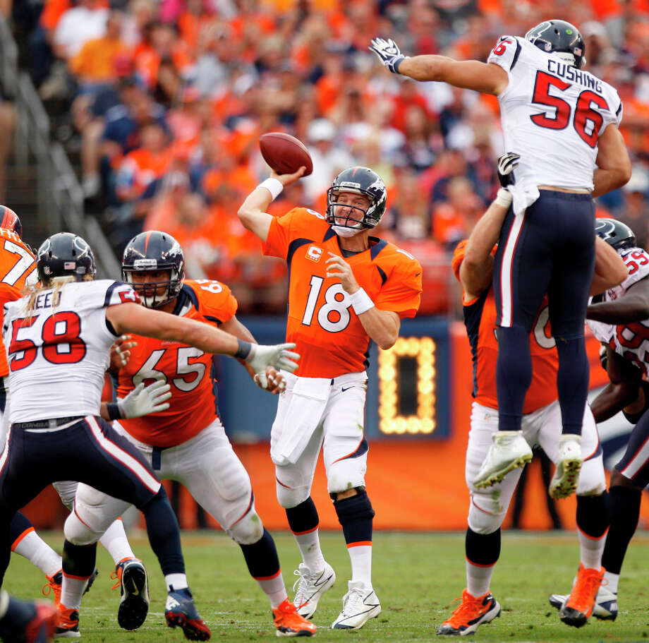 12 TIE. Texans-Broncos Sunday, Sept. 23. Channel 11 Watched by: 1,004,000 Photo: Brett Coomer, Houston Chronicle / © 2012  Houston Chronicle