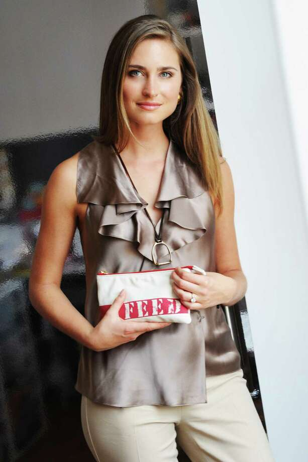 Houston native Lauren Bush Lauren's FEED Projects partnerships include working with beauty brand Clarins, which launched a  gift with purpose  program with Macy s that runs through April 20. During the promotion, Clarins customers purchasing two products (one of which must be skincare) will receive a FEED bag with Clarins goodies. Each purchase also will provide 10 school meals to children around the globe. Photo: Billy Farrell/BFAnyc.com / Billy Farrell Agency (BFA)