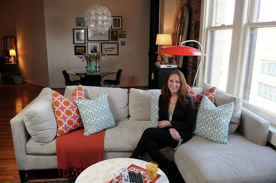 Lindsey Brown at her home in the Franklin Lofts Thursday Feb. 14, 2013.(Dave Rossman/ For the Chronicle) Photo: Dave Rossman, Freelance / © 2013 Dave Rossman