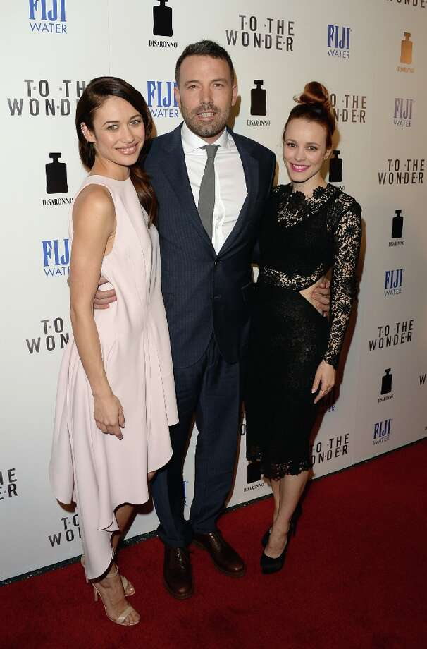 "(L-R) Actors Olga Kurylenko, Ben Affleck and Rachel McAdams attend the premiere of Magnolia Pictures\' ""To The Wonder\"" at Pacific Design Center on April 9, 2013 in West Hollywood, California. Photo: Jason Merritt, Getty Images / 2013 Getty Images"