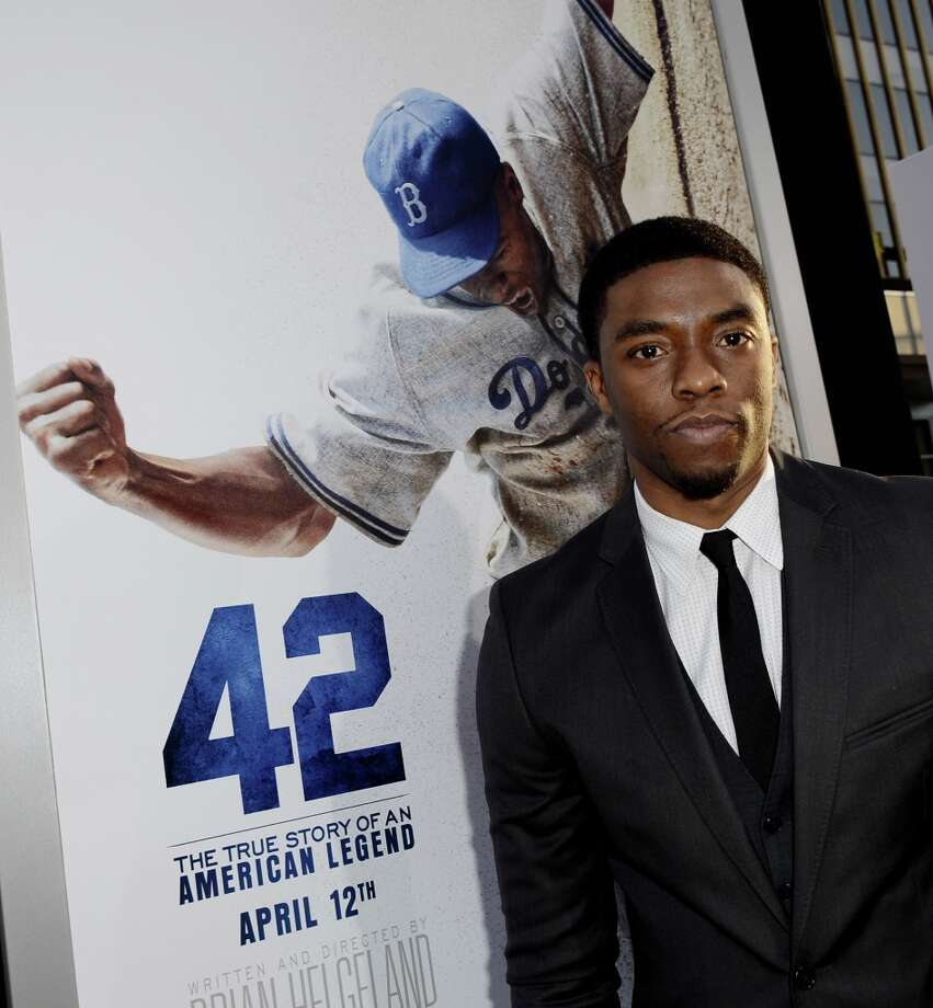 """Actor Chadwick Boseman arrives at the premiere of Warner Bros. Pictures\' and Legendary Pictures\' \""""42\"""" at the Chinese Theatre on April 9, 2013 in Los Angeles, California. Photo: Kevin Winter, Getty Images / 2013 Getty Images"""