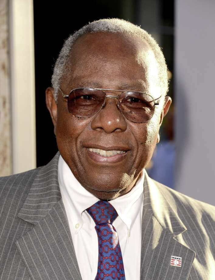 """Former MLB player Hank Aaron arrives at the premiere of Warner Bros. Pictures\' and Legendary Pictures\' \""""42\"""" at the Chinese Theatre on April 9, 2013 in Los Angeles, California. Photo: Kevin Winter, Getty Images / 2013 Getty Images"""