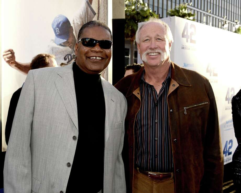 "Former MLB players Dave Henderson (L) and Richard ""Goose\"" Gossage arrive at the premiere of Warner Bros. Pictures\' and Legendary Pictures\' \""42\"" at the Chinese Theatre on April 9, 2013 in Los Angeles, California. Photo: Kevin Winter, Getty Images / 2013 Getty Images"