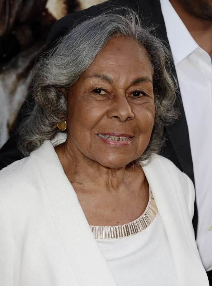 """Rachel Robinson, Jackie Robinson\'s widow arrives at the premiere of Warner Bros. Pictures\' and Legendary Pictures\' \""""42\"""" at the Chinese Theatre on April 9, 2013 in Los Angeles, California. Photo: Kevin Winter, Getty Images / 2013 Getty Images"""