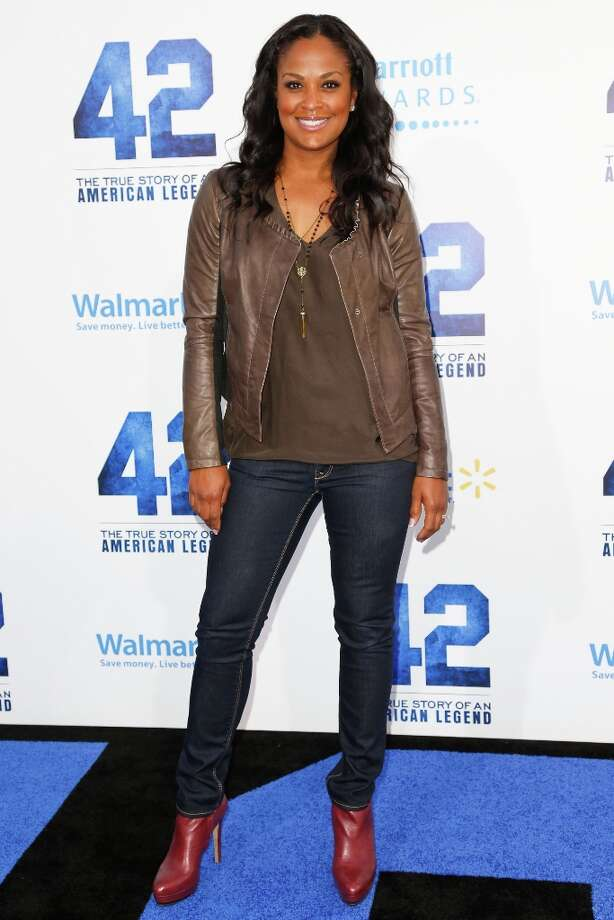 Former professional boxer Laila Ali attends the premiere of Warner Bros. Pictures\' And Legendary Pictures\' \'42\' at TCL Chinese Theatre on April 9, 2013 in Hollywood, California. Photo: Imeh Akpanudosen, Getty Images / 2013 Getty Images