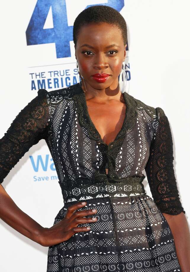 Actress  Danai Gurira attends the premiere of Warner Bros. Pictures\' And Legendary Pictures\' \'42\' at TCL Chinese Theatre on April 9, 2013 in Hollywood, California. Photo: Imeh Akpanudosen, Getty Images / 2013 Getty Images