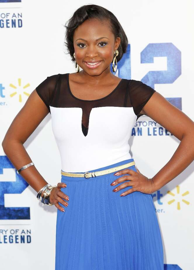 Actress Naturi Naughton attends the premiere of Warner Bros. Pictures\' And Legendary Pictures\' \'42\' at TCL Chinese Theatre on April 9, 2013 in Hollywood, California. Photo: Imeh Akpanudosen, Getty Images / 2013 Getty Images