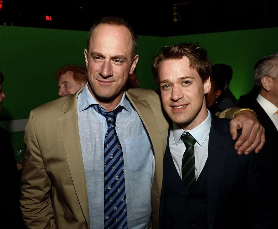 "Actors Christopher Meloni (L) and T.R. Knight pose at the after party for the premiere of Warner Bros. Pictures\' and Legendary Pictures\' ""42\"" at the Chinese Theatre on April 9, 2013 in Los Angeles, California. Photo: Kevin Winter, Getty Images / 2013 Getty Images"