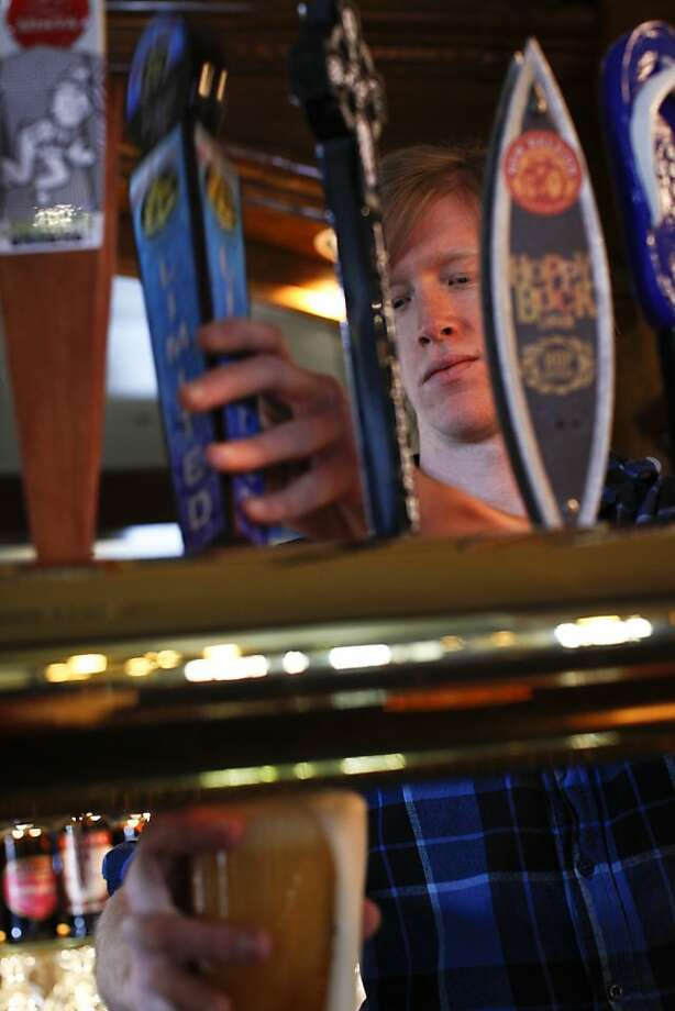 Kevin Olcese, now general manager at Harry's Hofbrau in Redwood City, had the idea for the craft beers. Photo: Russell Yip, The Chronicle