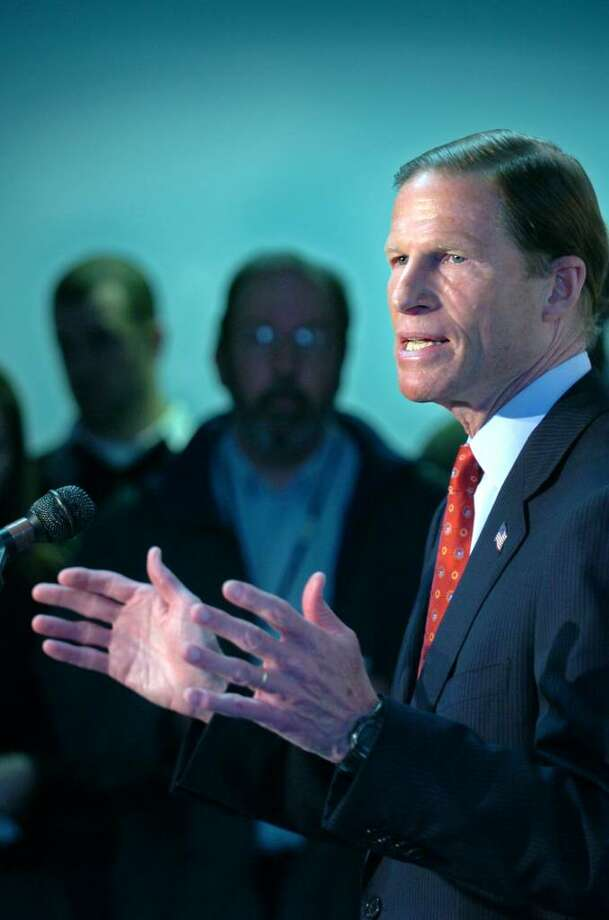 Connecticut Attorney General Richard Blumenthal announces his decision to run for US Senate at a press conference Wednesday, January 6, 2010 at the headquarters of the Connecticut State Democratic Party in Hartford. Photo: Autumn Driscoll / Connecticut Post