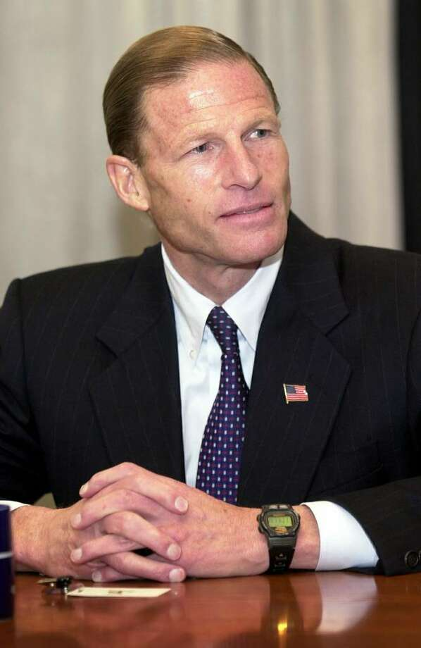 Stamford_101802_ Connecticut State Attorney General Richard Blumenthal during a meeting with The Advocate/Greenwich Time editorial board meeting. Mark Conrad/Staff photo Photo: File Photo / Stamford Advocate File Photo