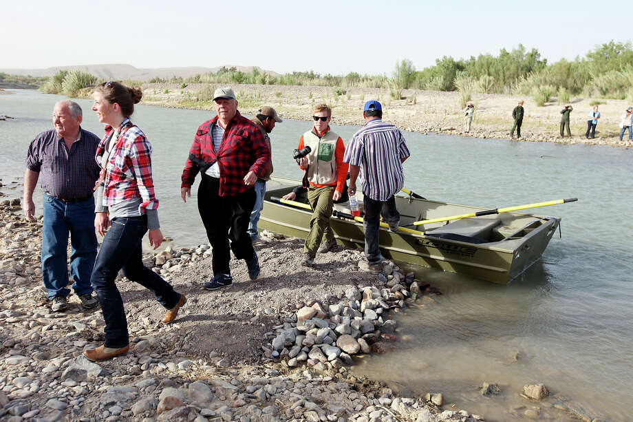 Visitors cross the Rio Grande from Big Bend National Park to  Boquillas del Carmen, Mexico Wednesday April 10, 2013. Photo: Edward A. Ornelas, San Antonio Express-News / © 2013 San Antonio Express-News