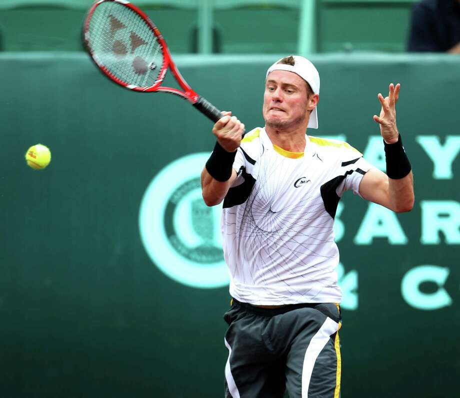 Lleyton Hewitt plays against Martin Alund during the first round of the US Men's Clay Court Championships, Wednesday, April 10, 2013, in Houston. Photo: Karen Warren, Houston Chronicle / © 2013 Houston Chronicle