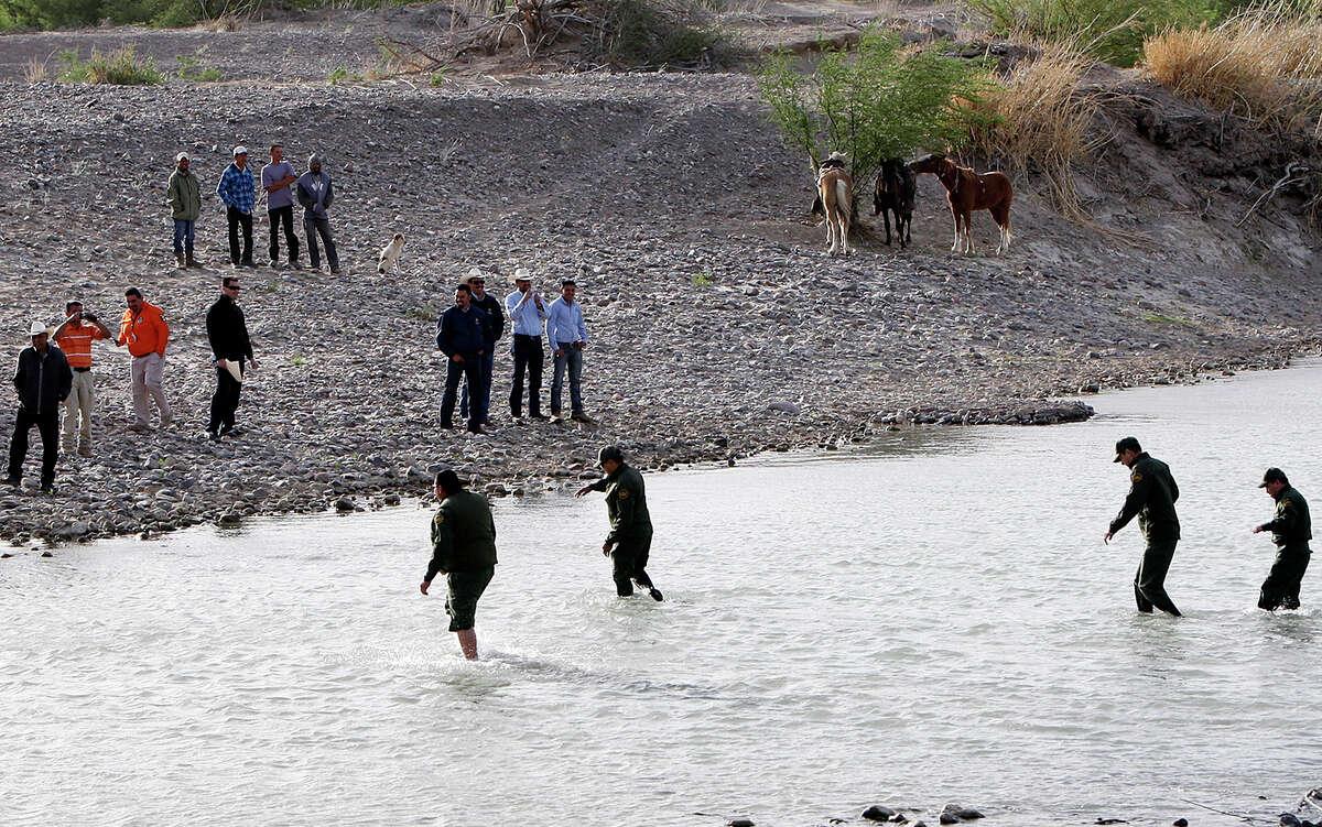 Border Patrol Agents cross the Rio Grande from Big Bend National Park to Boquillas del Carmen, Mexico.
