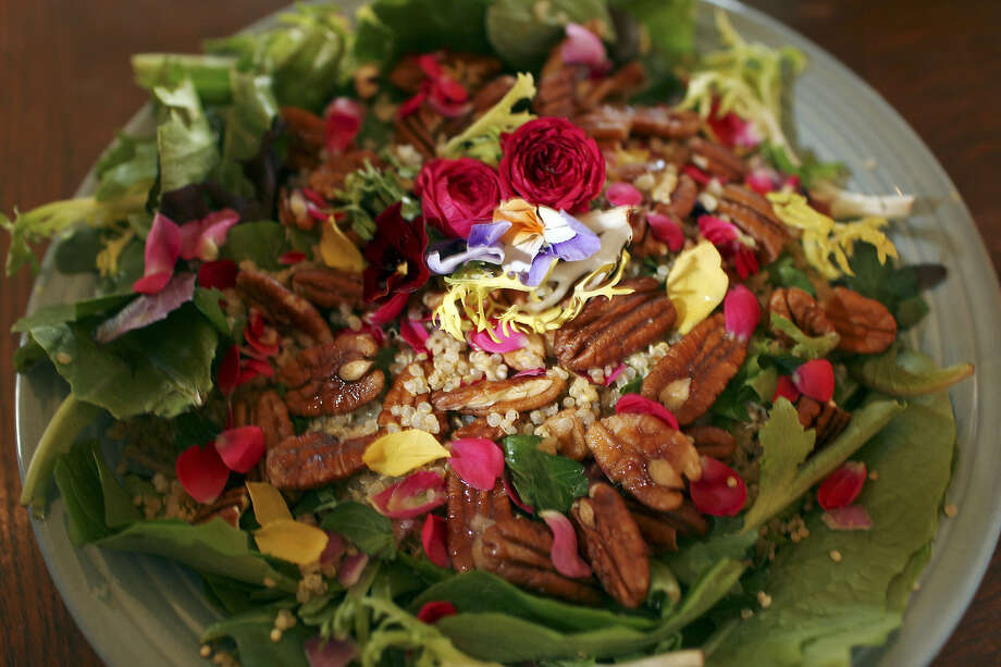 The Quinoa Salad is served at Vegeria, which is the city's only all-vegan café. Photo: Express-News File Photo