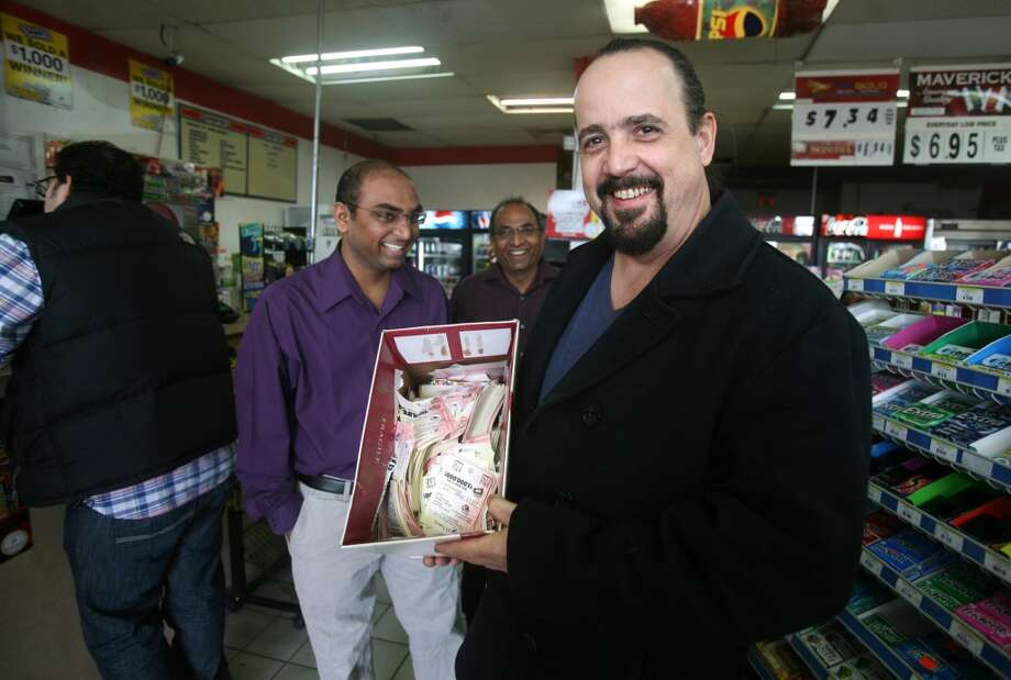 Fairfieldhas sold nine lottery tickets with payout of at least $10,000, for a total amount of more than $3.2 million from the big tickets.  Steve Dibo of Monroe shows a box filled with thousands of lottery tickets during his daily lottery purchase at News Express at 200 Tunxis Hill Road in Fairfield on Wednesday, November 28, 2012. Dibo said he spends about sixty thousand dollars per year on the lottery, and has won jackpots as large as one hundred thousand dollars.
