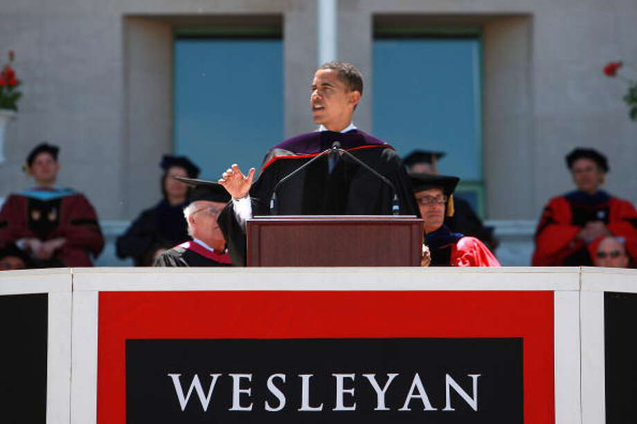 Middletown has sold 13 lottery tickets with payout of at least $10,000, for a total amount of more than $4.4 million from the big tickets.MIDDLETOWN, CT - MAY 25:  Sen. Barack Obama (D-IL) delivers the commencement address at Wesleyan University May 25, 2008 in Middletown, Connecticut. Obama is stepping in for Sen. Edward M. Kennedy, who was diagnosed this week with a cancerous brain tumor. Photo: Spencer Platt, Getty Images / 2008 Getty Images