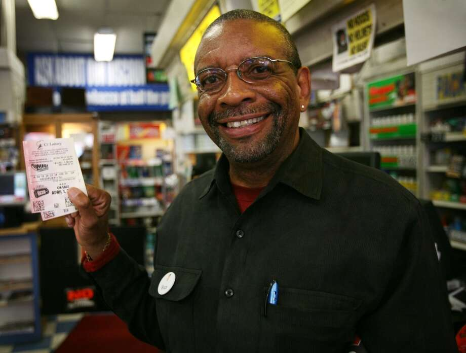 Bridgeport has sold 44 lottery tickets with payout of at least $10,000, for a total amount of more than $4.6 million from the big tickets.  Bruce Cunningham of Bridgeport smiles as he shows the Megamillions lottery tickets he purchased at Martin\'s News on Barnum Avenue in Bridgeport on Thursday, March 29, 2012.