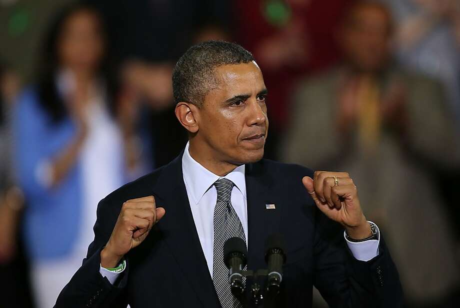 President Barack Obama speaks on gun control at the University of Hartford on April 8, 2013, in Connecticut. Photo: Spencer Platt, Getty Images