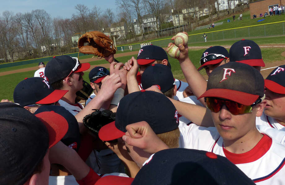 Baseball action between Foran and Jonathan Law in Milford, Conn. on Wednesday April 10, 2013. Photo: Christian Abraham / Connecticut Post