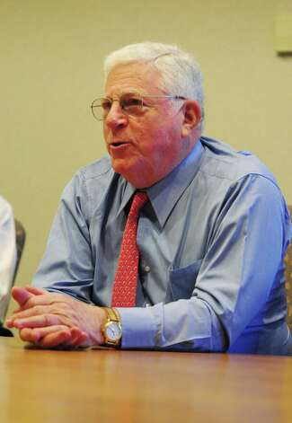 Former Lt. Gov. Richard Ravitch speaks during a Times Union editorial board meeting Wednesday, April 10, 2013, in Colonie, N.Y. (Will Waldron/Times Union) Photo: Will Waldron