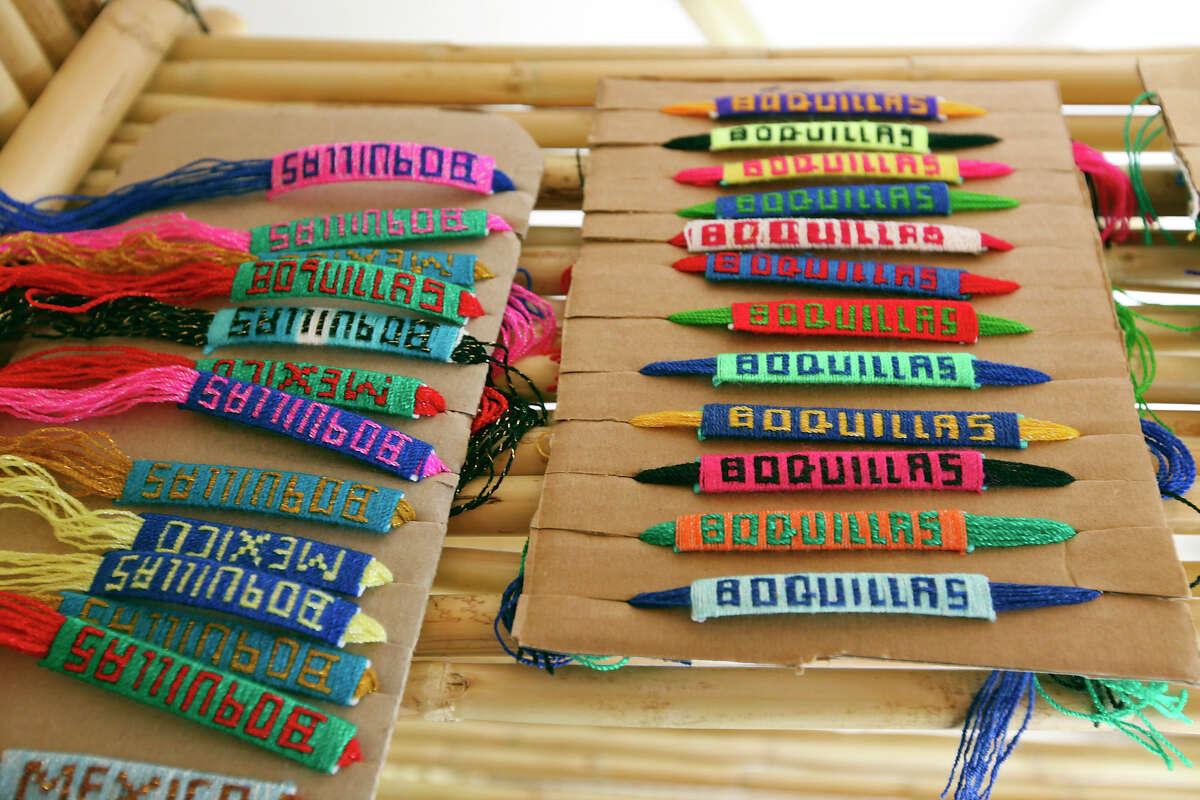 Bracelets for sale Wednesday April 10, 2013 in Boquillas del Carmen, Mexico.