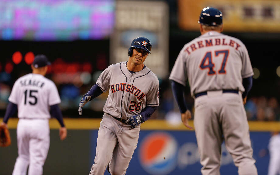 Rick Ankiel of the Astros rounds the bases after hitting a two-run home run during the second inning. Photo: Otto Greule Jr / 2013 Getty Images