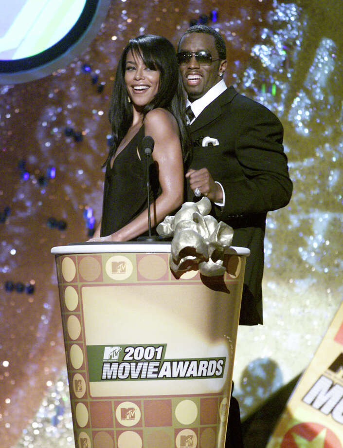 Aaliyah and Sean Combs present at the 2001 MTV Movie Awards at the Shrine Auditorium in Los Angeles Saturday, June 2, 2001. Aaliyah died two months later in a plane crash. Photo: Kevin Winter, Getty Images / Getty Images North America