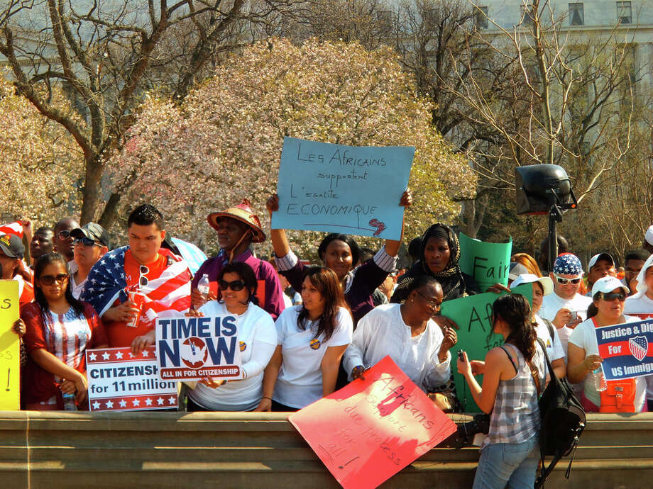 Immigrant activists from all backgrounds attended the rally.