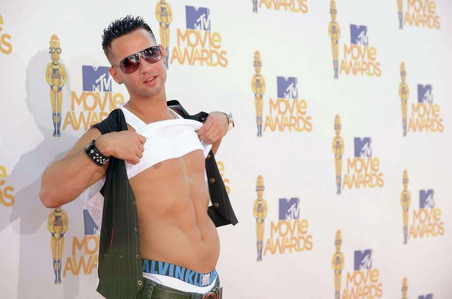 Mike 'The Situation' Sorrentino and his abs arrive at the 2010 MTV Movie Awards at Gibson Amphitheatre on June 6, 2010 in Universal City, California. Photo: Jason Merritt, Getty Images / 2010 Getty Images
