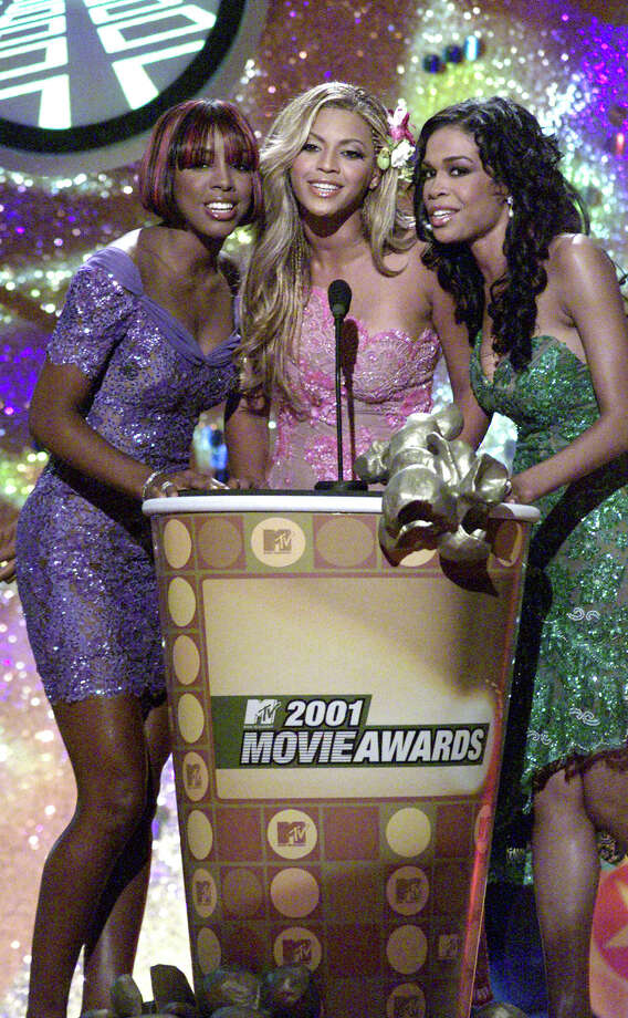 Before Beyonce ruled the world, she was part of Destiny's Child. The ladies presents award at the 2001 MTV Movie Awards at the Shrine Auditorium in Los Angeles Saturday, June 2, 2001 Photo: Kevin Winter, Getty Images / Getty Images North America