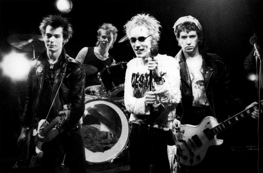 Notorious British punk rock band the Sex Pistols, who played together from 1975-78. From left to right: Sid Vicious (John Simon Ritchie), Paul Cook, Johnny Rotten (John Lydon) and Glen Matlock.The Sex Pistol's chaotic seven-show, two-week tour across the South wound up being its last. In the days before playing San Antonio, the band debuted in Atlanta, Ga., on Jan. 6, 1978. The following night they played Memphis, Tenn. Nine days after playing SA, the band broke up. A year later, bassist Sid Vicious was dead of a heroin overdose.