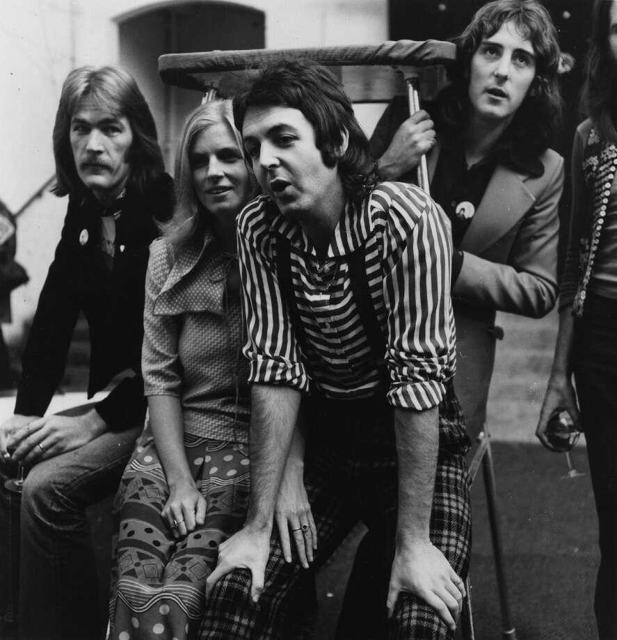 "Wings' ""Hi, Hi, Hi"" was also banned by the BBC in 1972 for the suggestive lyrics, ""get you ready for my body gun,"" which McCartney later said were misheard by censors. Photo: Evening Standard, Getty Images / Hulton Archive"