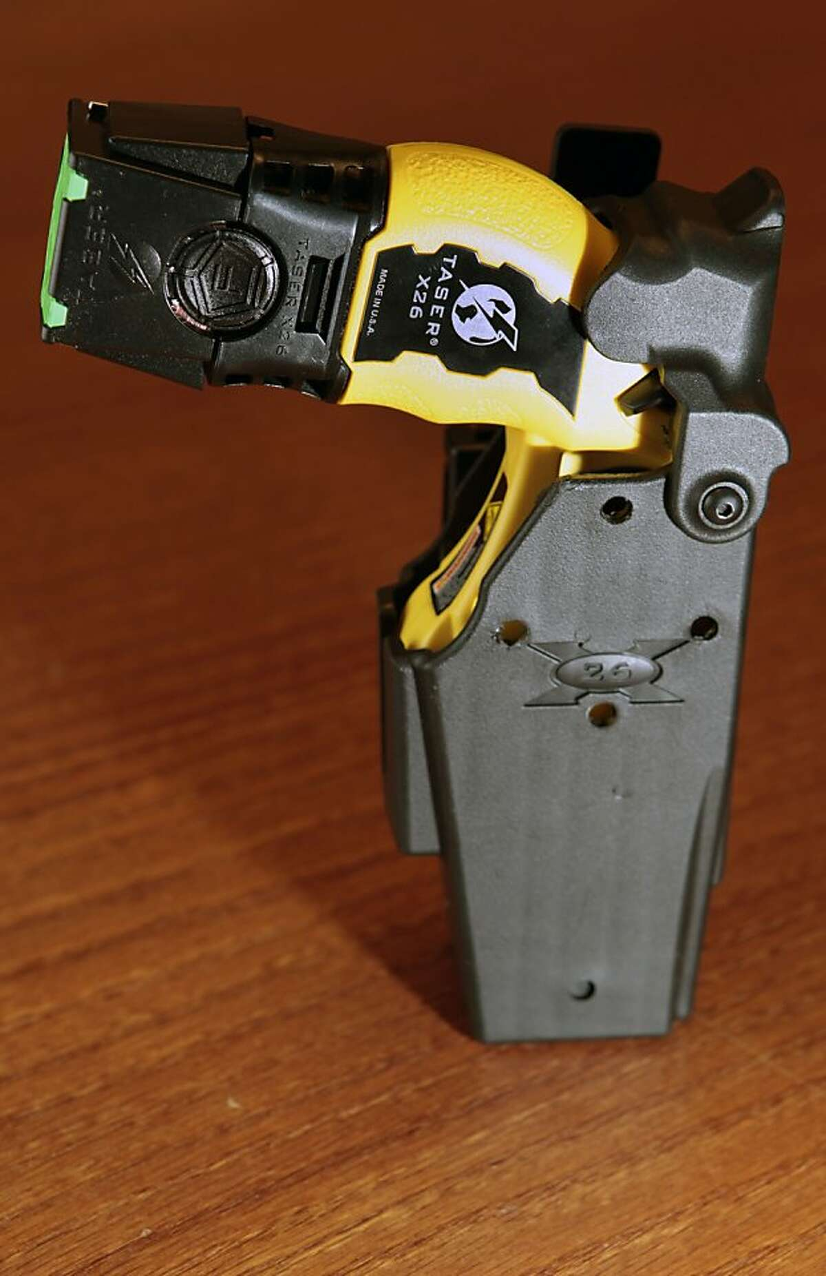 BART Police made available a Taser gun and holsters shared by fellow officers the night Oscar Grant was shot.