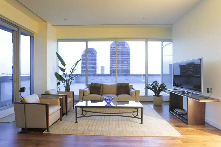 This penthouse suite offers some stunning views of downtown Houston. You'll also have plenty of space. The home features three bedrooms and three bathrooms in more than 6,100 square feet. Photo: John Daugherty Realtors