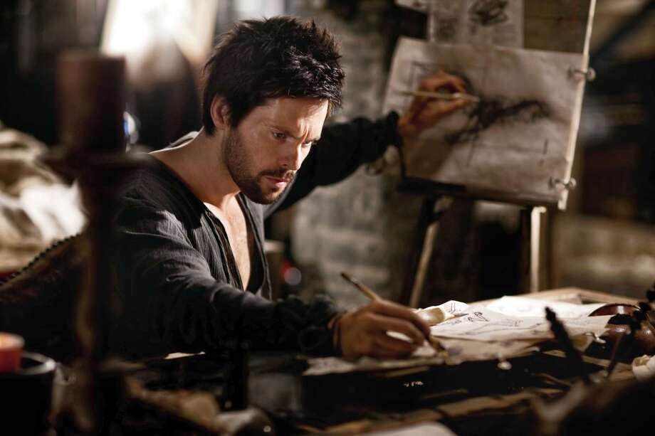 "This publicity image released by Starz shows Tom Riley as Leonardo Da Vinci in a scene from ""Da Vinci's Demons,"" premiering Friday, April 12 at 10 p.m. EST on Starz. (AP Photo/Starz Entertainment, LLC, Greg Wiliiams) Photo: Greg Wiliiams, HOEP / Starz Entertainment, LLC"