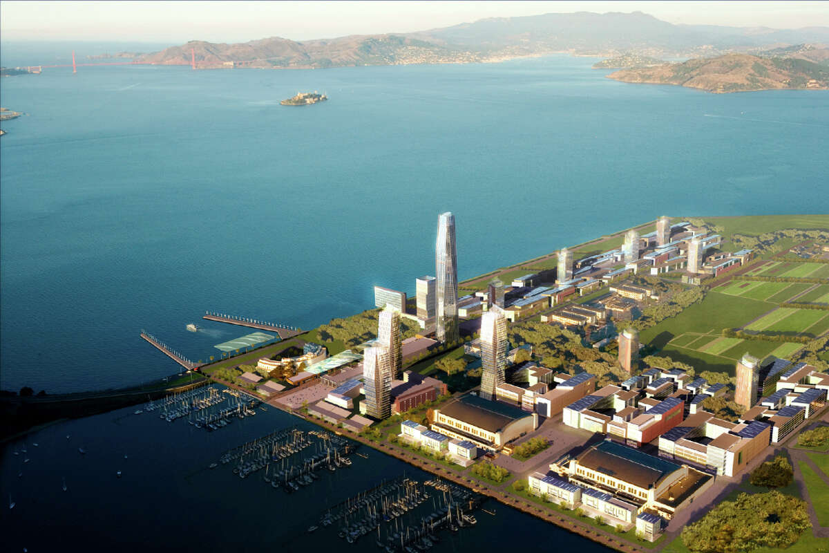 An artist\'s rendering of what the proposed development for Treasure Island would look like.