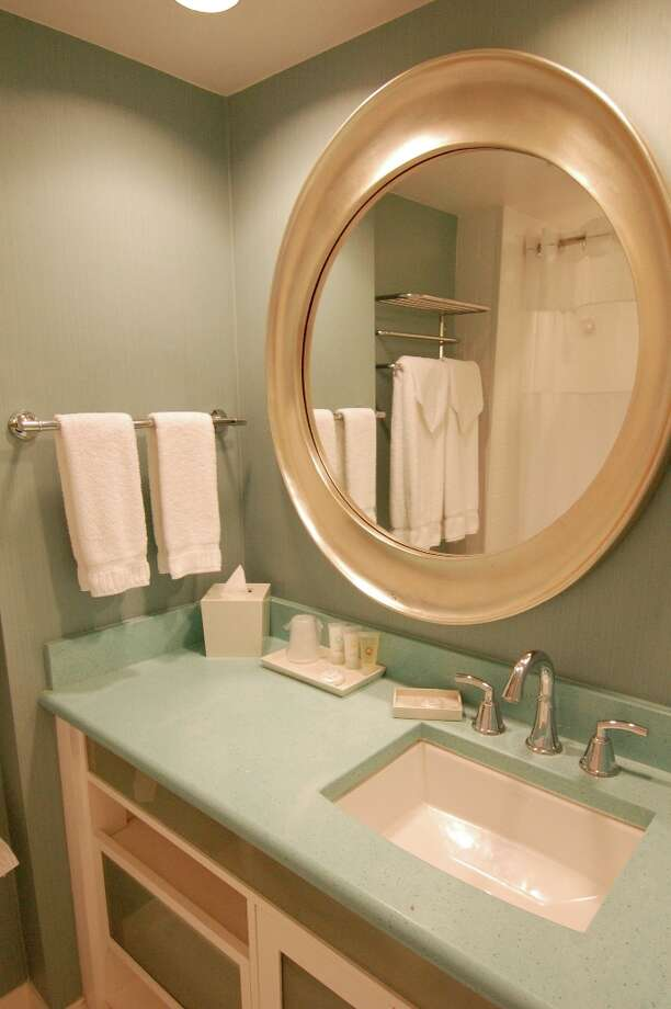 Bathrooms are small but pleasantly up to date in the Coconut Waikiki.