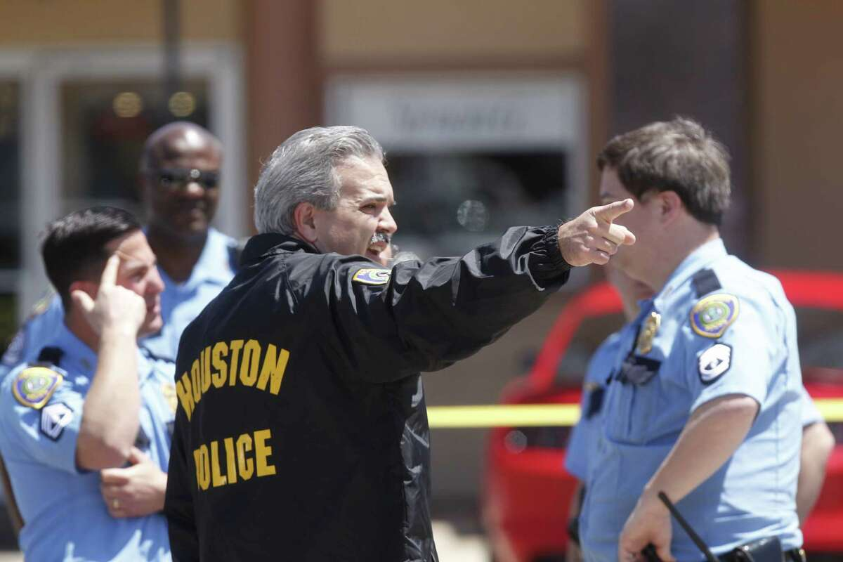 Houston police responded to a robbery near the Galleria just after noon, April 11.