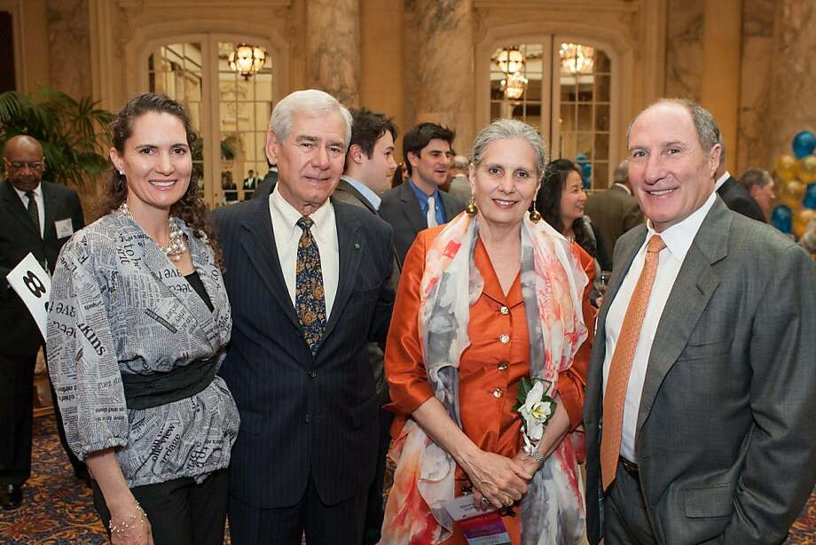 Leslie Garbin, Rod Diridon, Gloria Duffy and John Goldman at The Next 110 event presented by The Commonwealth Club on April 10, 2013. Photo: Drew Altizer Photography