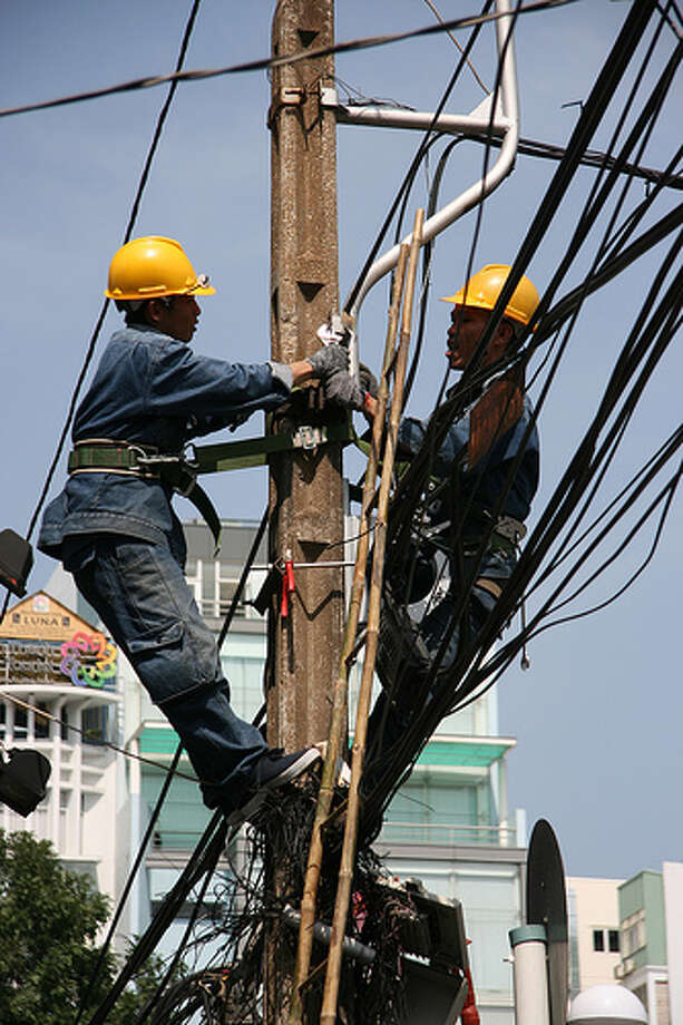 Best: Electrician  10-year growth projection: 23.2 percentAnnual wage range: $37,570 to $65,260Photo: Travel Aficionado, FlickrRead about the best and worst jobs here.  Photo: Flickr