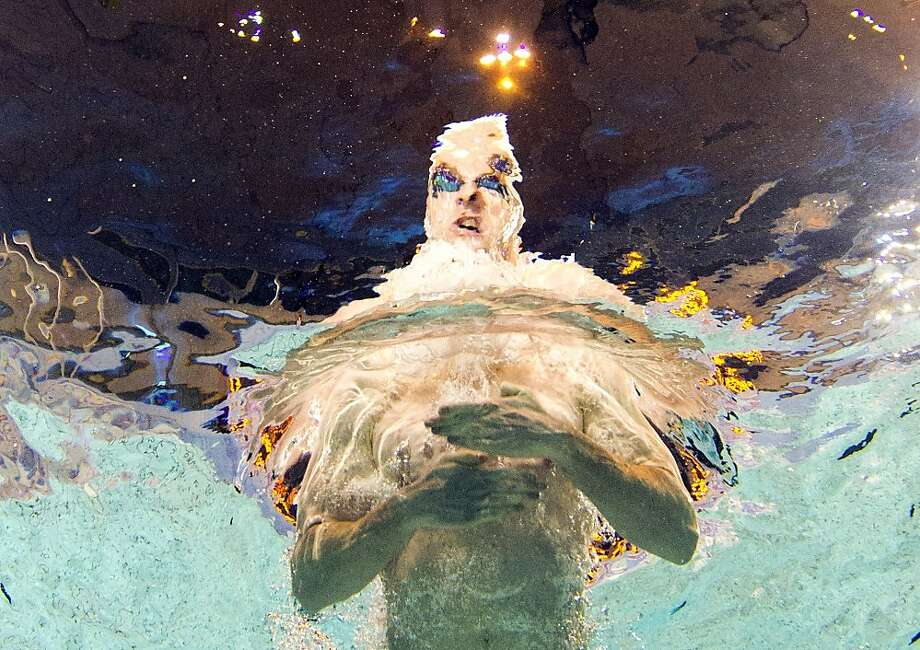 Hello, Dahlia: An underwater camera caught this image of France's Thomas Dahlia competing in the 200m breaststroke during the French swimming championships in Rennes. Photo: Damien Meyer, AFP/Getty Images