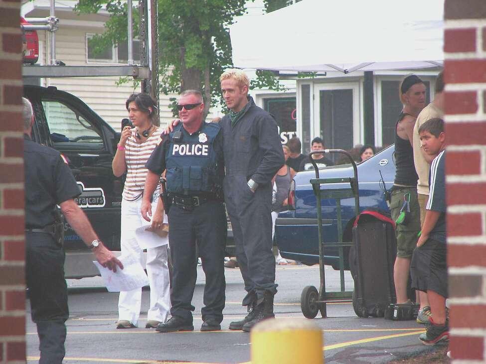 Ryan Gosling during a break in filming of