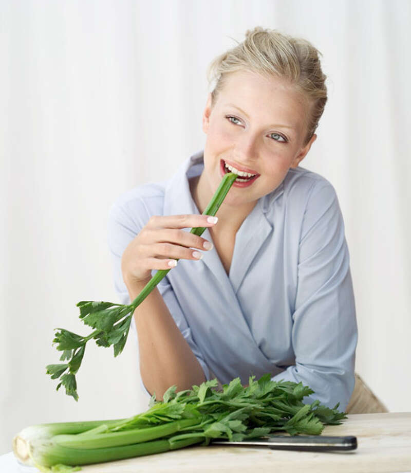"""It may seem like all this crunchy veggie has going for it is its low  calorie count, but trust us, it's sexy, too. Celery contains chemicals  called androsterone and adrostenal, which make us feel more sexually  attractive, says Balleck. She also notes that celery contains a small  amount of male hormones, which can boost female arousal. Need more?  """"Celery's balance of sodium and potassium make it an excellent  diuretic,"""" says Linda DeVillers, PhD, author of Simple Sexy Food: 101 Tasty Aphrodisiac Recipes and Sensual TipstoStir Your Libido and Feed Your Love. Translation: It can help banish decidedly unsexy bloat.More from Woman's Day: 10 Exercises for Better Sex Photo: Stockbyte, Getty Images / (c) Stockbyte"""